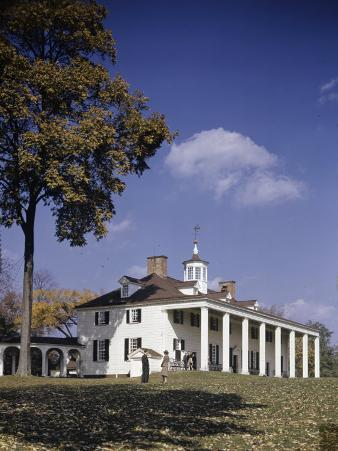 Autumn View of Mount Vernon on a Clear Day