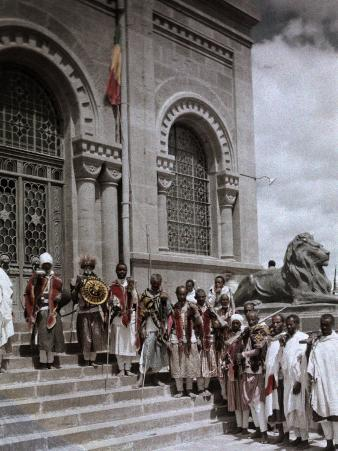 Group of Warriors Guard the Mausoleum of King Menelik Ii