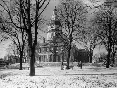 View of the Colonial Statehouse at Annapolis