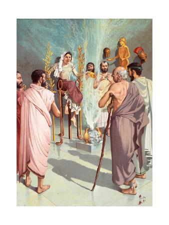 Ancient Greeks Visit the Mythical Oracle at Delphi