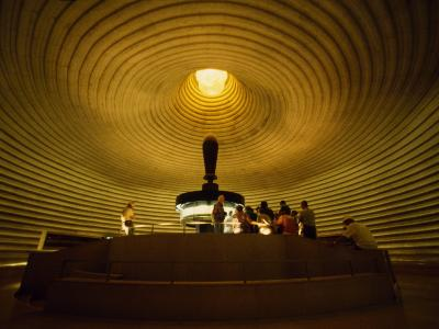 Tourists in the Shrine of the Book, Which Houses the Dead Sea Scrolls