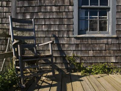 Rocking Chair on a New England Porch