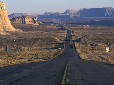 Scenic Highway Leading into Utah Near Page, Arizona
