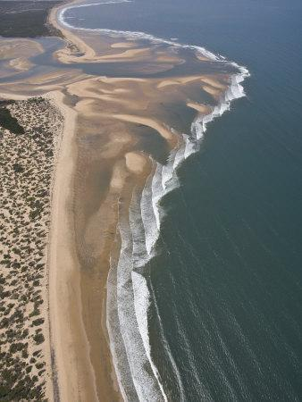 Mouth of a River Creates a Sand Delta on Mozambique's North Coast