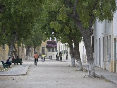 Street Life in an Old Portuguese Village on Ile De Mozambique