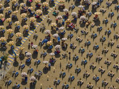 Pattern of Beach Umbrellas and Chairs