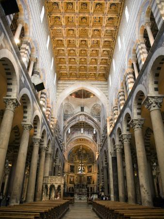Interior of the Nave and Altar of Pisa Cathedral