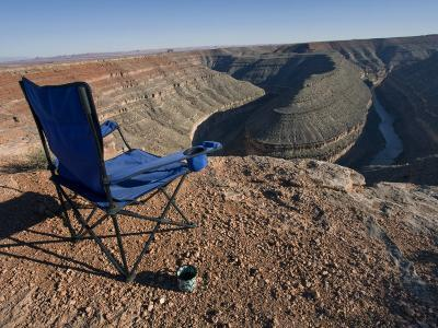 Camp Chair and Coffee Cup at Goosenecks State Park, Utah