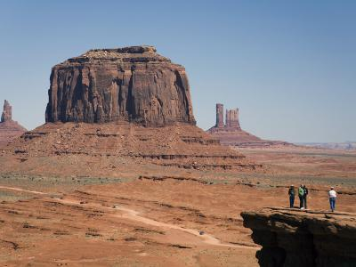 Visitors at John Ford's Point in Monument Valley, Utah