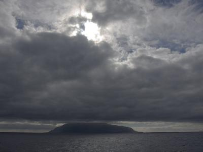 Clouds Covering the Peak on Tristan Da Cunha, in the South Atlantic