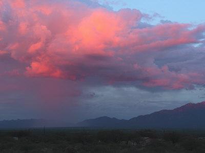 Monsoon Rain Storm Moves Through Green Valley, Arizona