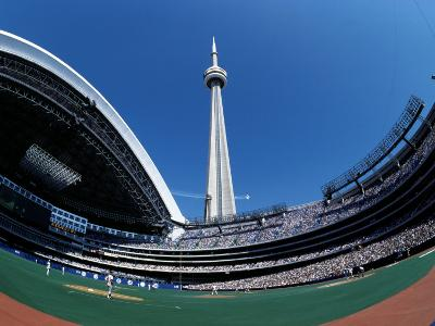 Cn Tower Looms over Rogers Centre