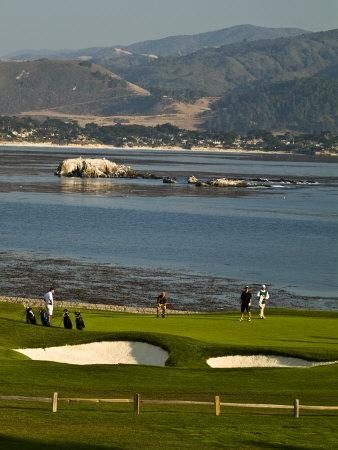 Pebble Beach Golf Courses Along the 17-Mile Drive Outside of Carmel in Monterey County