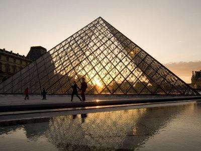 Glass Pyramid at the Louvre, at Dusk