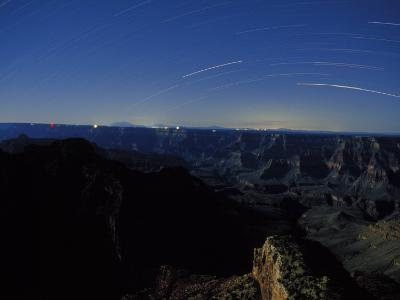 Star Trails Streak the Sky in a Long Exposure over the Grand Canyon