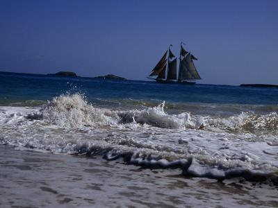 Sailing Ship Off of the Coast of Puerto Rico