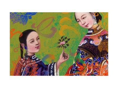 Asian Women Sharing a Flower