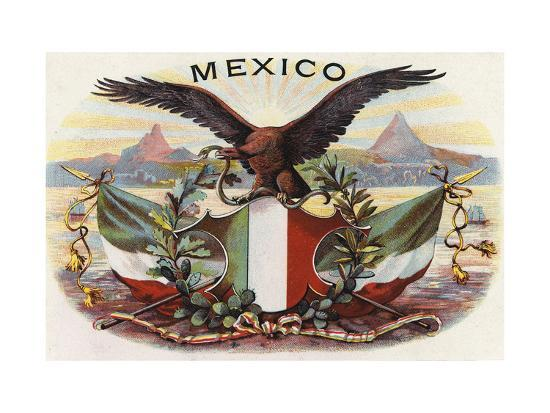 Mexican Flag And Eagle Poster At Allposters Com