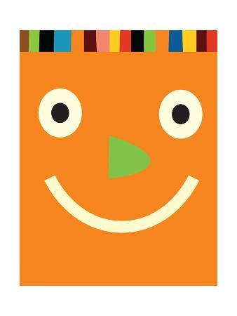 Big Orange Smiling Face