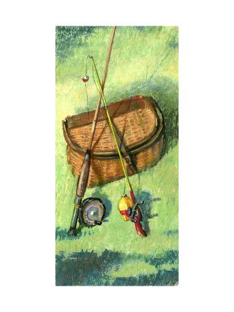 Fishing Basket and Rods