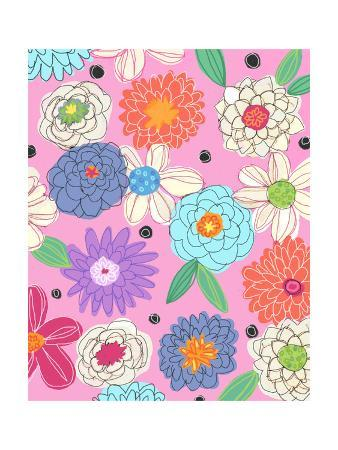 Flower Assortment on Pink