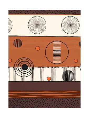 Brown and Orange Circles