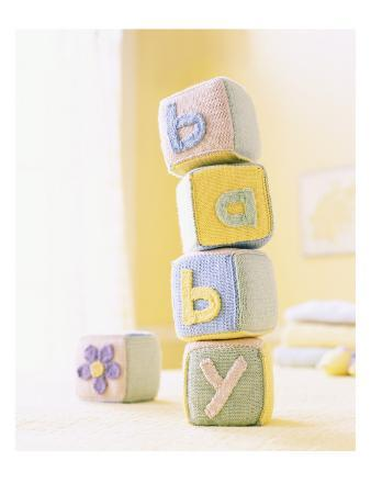 Knitted Baby Blocks