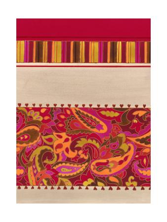 Paisley and Stripe Pattern