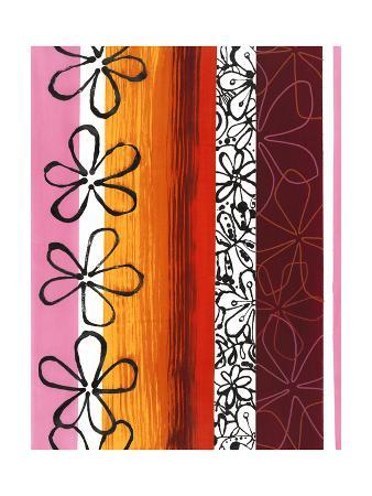 Floral Designs on Stripes