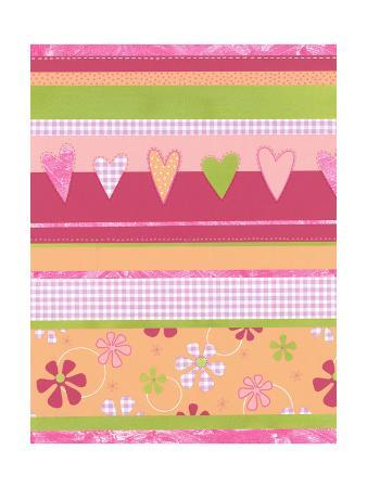 Gingham Hearts and Flowers