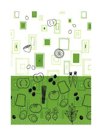 Kitchen Vegetables Print