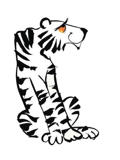 Retro Black and White Tiger Prints at AllPosters.com
