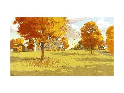 Country Houses and Autumn Trees