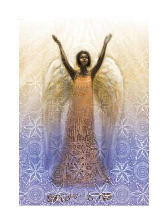 Angel with Arms Raised