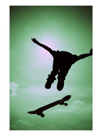 Skateboarder Soaring