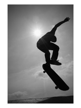 Skateboarder in the Air