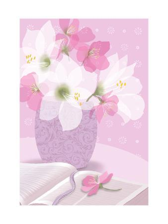 Bouquet with Open Book