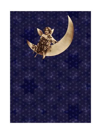 Victorian Child on Crescent Moon