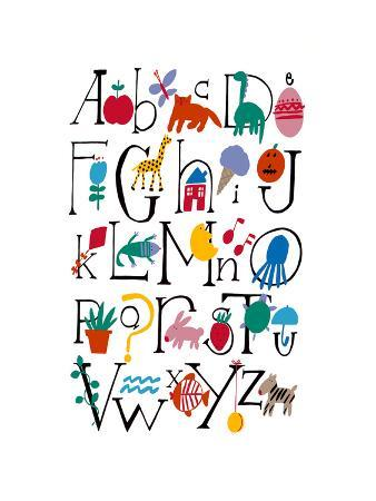 Cute Alphabet with Illustrations