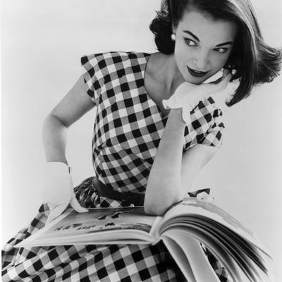 Helen Bunney in a Dress by Blanes, 1957