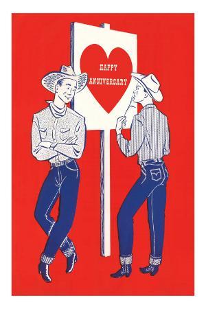 Happy Anniversary, Two Cowboys