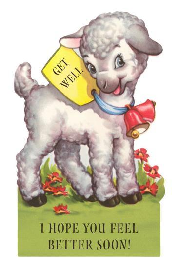 I Hope You Feel Better Soon Cute Cartoon Lamb Photo At Allposterscom