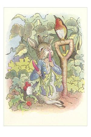 Rabbit with Singing Robin