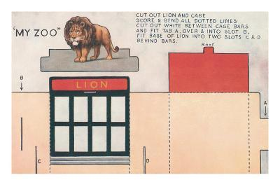 Cut-out Model of My Zoo with Lion