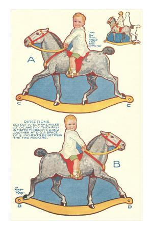 Cut-out Model of Rocking Horse