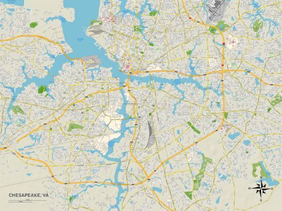 on chesapeake va map