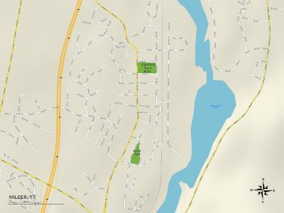 Political Map of Wilder, VT