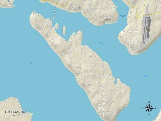 Political Map of Fox Island, WA