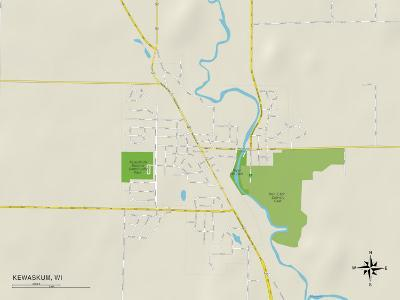 Political Map of Kewaskum, WI
