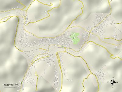 Political Map of Grafton, WV